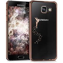 kwmobile Étui transparent élégant avec Design fée pour Samsung Galaxy A5 (2016) en cuivre transparent