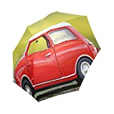 oksty Windcheater Regenschirm Rot Auto Unisex Teflon Beschichtet Winddicht Reise Regenschirm