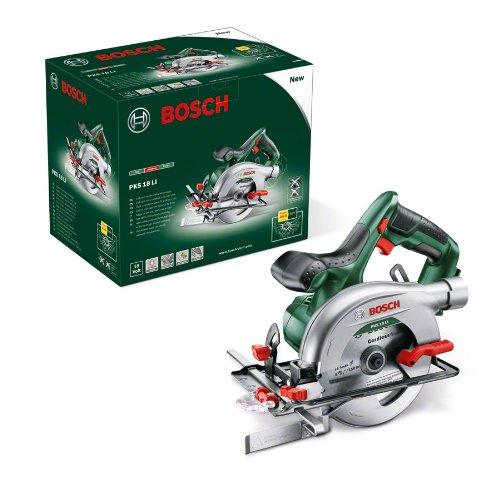 Bosch 18V Akku Kreissäge PKS 18 LI ohne Akku, Sägeblatt, Parallelanschlag, Karton (18 Volt System) - 7