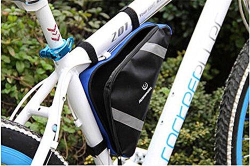 West Biking Mini Tasche für Aufbewahrung Zubehör Werkzeuge Dreieck praktischer passend für die meisten Road und Mountain Bikes Bleu - Bleu