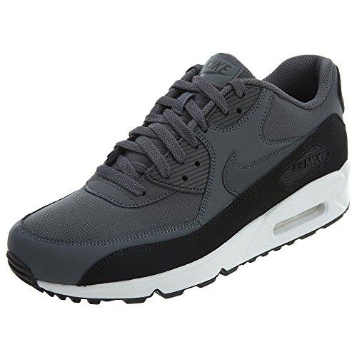 Nike Mens Air Max 90 Scarpe Da Corsa Essenziali Nere (blackdark Greywhite 085)