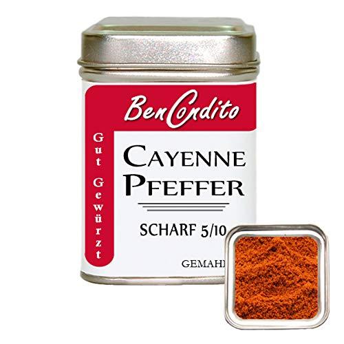 Scharfer Cayennepfeffer - gemahlenes scharfes rotes Chilipulver 80 Gramm