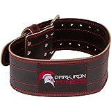 Dark Iron Fitness Strapazierfähiger Gürtel aus echtem Leder mit Verstellbarer Schnalle für...