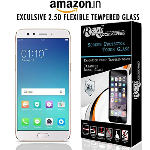 Roxel Fiber Reusable, Ultra Clear, Real Shock Proof Tempered Glass Screen Protector For Oppo F3 Plus