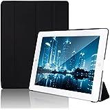 JETech Gold Slim Fit iPad 2/3/4 Funda Carcasa con Stand Función y Imán Incorporado para el Sueño/Estela para para Apple iPad 2, iPad 3 y el nuevo iPad 4 Smart Case Cover (Negro) - 0210