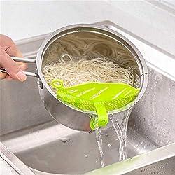 Hemore Forme de Feuille Riz Lavage Tamis Beans Peas Nettoyage Gadget de Cuisine Clips Outils Accessoires pour la Maison