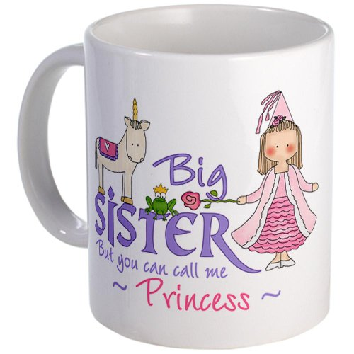 CafePress Unicorn Princess tazza Big Sister, Standard, colore: multicolore