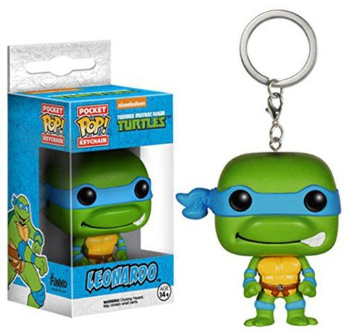 (FunKo 4574-PDQ Teenage Mutant Ninja Turtles Schlüsselanhänger Figur TMNT: Leonardo, Unisex-Child)
