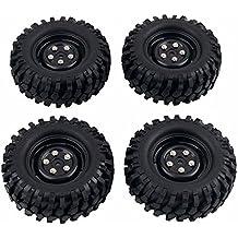 Gazechimp 4 Piezas Coche Fuera de Carretera de Rueda y Neumático para RC4WD D90 D110 1/10