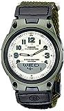 Casio AW80V-3BV - Reloj analógico y Digital de Cuarzo para Mujer con Correa de Caucho, Color Negro