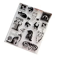 WEISHAZI Clear Stamp Silicone Seal for DIY Scrapbook Diary Album Photo Decor T1039 Cat