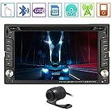 Vídeo SD Bluetooth en el tablero de la unidad principal 2 Din GPS Navigator receptor de radio USB audio estéreo de coches reproductor de DVD Autoradio FM AM PC del coche del sistema digital de RDS, construido en el control remoto de la cámara reversa
