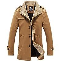Yvelands Hombre Chaqueta de Abrigo de Lana Gruesa de Abrigo al Aire Libre cálido otoño Invierno Top Blusa