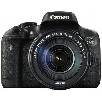 Canon EOS 750D Kit Fotocamera Reflex Digitale da 24 Megapixel con Obiettivo EF-S 18-135 IS STM