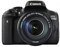 Canon EOS 750D SLR-Digitalkamera (24 Megapixel, APS-C CMOS-Sensor, WiFi, NFC, Full-HD) Kit inkl. EF-S 18-135 mm IS STM Objektiv schwarz