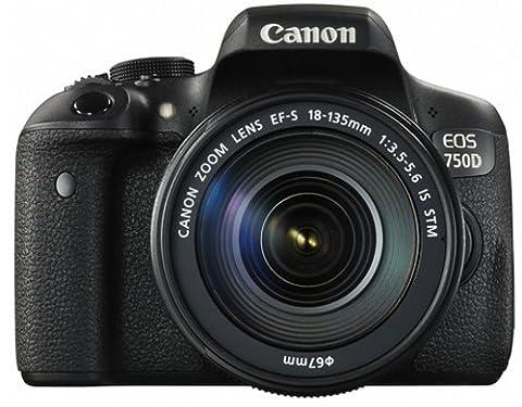 Canon EOS 750D / Rebel T6I / EOS KISS X8I 18-135 / 3.5-5.6 EF-S IS STM Appareils Photo Numériques 24.7 Mpix