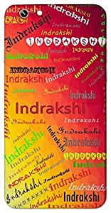 Indrakshi (One Having Beautiful Eyes) Name & Sign Printed All over customize & Personalized!! Protective back cover for your Smart Phone : One Plus Two ( 1+2 )