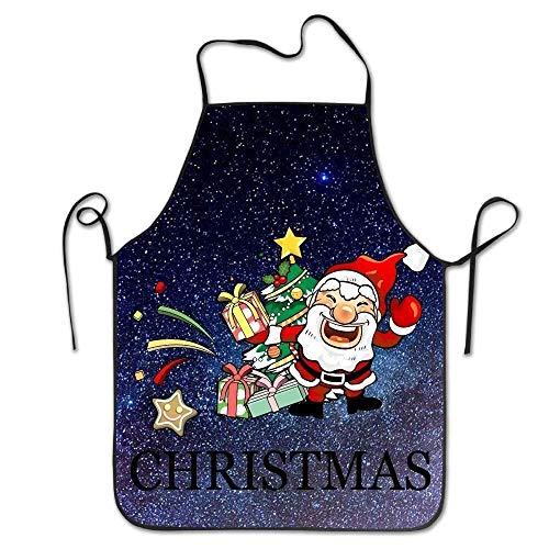 Claus Kostüm Lady Santa - HTETRERW Christmas Santa Claus Women's Funny Creative Print Cooking Aprons