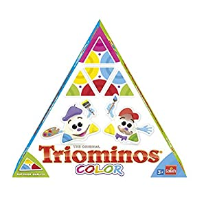 Triominos-60613 el dominó Triangular para peques, Multicolor, (Goliath 60613)