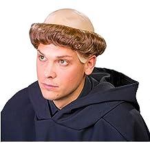 Festartikel Müller GmbH Monje peluca monje calvo con corona de pelo monasterio religioso carnaval