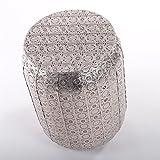 "DREAMLIKE METAL STOOL ""ORIENT"" | round, silver, ornamented | oriental"