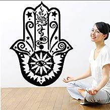 ... Vinilos mano de fatima. myvovo Más nuevo Diseño Hogar Arte de La Pared  Decoración Mural Etiqueta Engomada Del Vinilo Yoga fca913ba3f7b