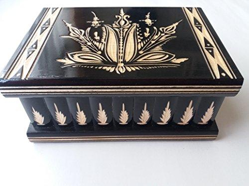 Neu-schwarz-groe-riesige-Kasten-Holz-Puzzle-Kasten-geheimen-Kasten-Magie-Zauber-KastenSchmuck-schatulle-Kiste-handgeschnitzt-aus-Holz-Aufbewahrungsbox-geschnitzt-Kasten-holz-Spielzeug-fr-Kinder