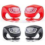 mini LED Silikon-Leuchten Set, ZeWoo Kinderwagen-Beleuchtung, Wasserfeste Sicherheitsleuchten, Tretroller-Licht, Kinder Laufrad Lampen, mit Batterien Einfache Montage ohne Werkzeu