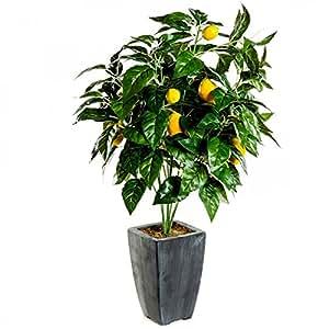 Arbre fruitier artificiel citrons citronnier plante for Amazon plante artificielle