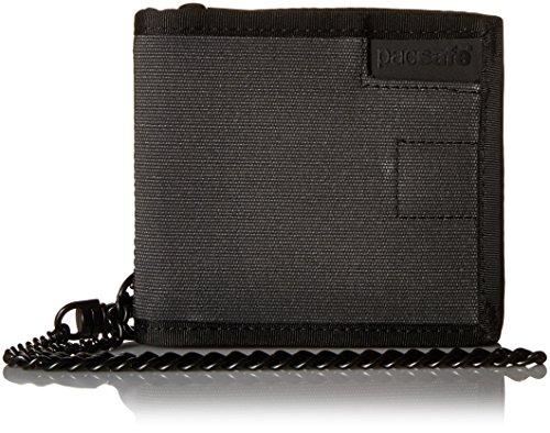 Pacsafe, Unisex-Brieftasche/Portemonnaie für Erwachsene, RFID-sicher, Dunkelgrau/104