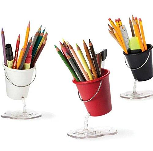 Absales Pencil Holder - Creative Design Floating Bucket Pen Case Container Ideal Desk