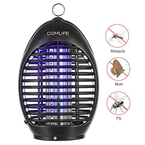 COMLIFE Lámpara Matamosquitos UV 360° Mata Insectos No Posee Químicos para Hogar, Oficina, Patio, Jardín y Camping al Aire Libre
