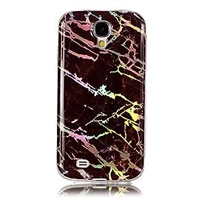 MoreChioce Hülle kompatibel mit Galaxy S4 Silikon Hülle Farbverlauf Bling Glitzer Glanz Marmor Handyhülle Stoßfest Bumper Strass Transparent TPU Tasche