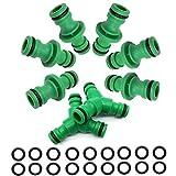 6 Stück Doppel Stecker Schlauchverbinder Extender BlueXP 2 Top und 3 Top Schlauchverbinder Garten Gewinde Wasserhahn-Anschluss Nutzen Connect Zubehör zu der Schlauch Grün