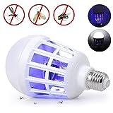 LEDMOMO Elektrische Insektenfalle, E27, für den Innenbereich, Lampe gegen Mücken, für Haus, Küche, Innenräume, Restaurants, 15 W