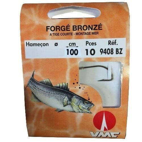 VMC–Anzuelo montado para mar forjado en bronce, 10 unidades