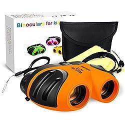 KITY pour 4-8 Ans Garcon Cadeau, Jumelles pour Enfants Cadeau Garçon 5-10 Ans Jouet d'apprentissage éducatif pour Cadeau Enfant 4-12 Ans Garcon d'anniversaire pour Jeux de Plein Air (Orange)
