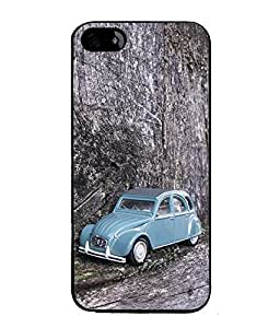 FUSON Designer Back Case Cover for Apple iPhone SE (Black Car Highway Luxury Lamborghini)