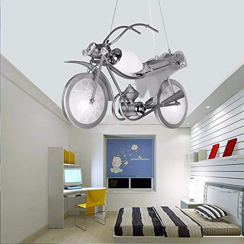 Moderne Kinder Motorrad Kronleuchter Hängelampe für Kinder Schlafzimmer, Kinderzimmer Decke Pendelleuchte, LED E14x3 60x40cm - Kronleuchter Bibliothek