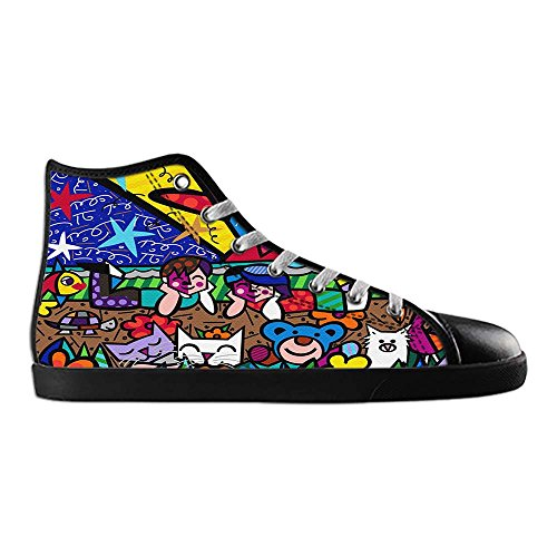 Dalliy Romero Britto Men's Canvas shoes Schuhe Lace-up High-top Sneakers Segeltuchschuhe Leinwand-Schuh-Turnschuhe D