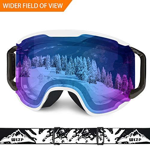 WLZP Maschera Sci, OTG Doppia Protezione Anti-UV Protezione Invernale Occhiali da Sport Invernali, AntiGraffio Resistente agli Urti, Sport Invernali da Neve Occhiali da Snowboard