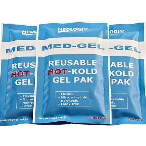 Medlogix Med-Gel reusable HOT-Kold Gel Pak 4 x 6 Inch (One Dozen) by Cramer