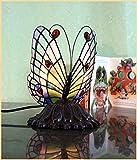 Graf von Gerlitzen Tiffany Tiffanylampe Stand Tisch Schmetterling Lampe Tischlampe 935