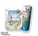 Ravensburger tiptoi Entdecke Den Flughafen + Kinder Weltkarte - Länder, Tiere, Kontinente