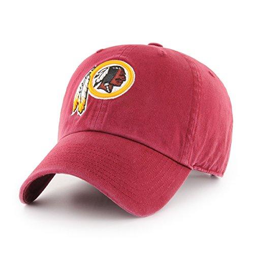 OTS NFL Challenger reinigen bis Verstellbarer Hat, Unisex, NFL OTS Challenger Clean Up Adjustable Hat, Scharlachrot -