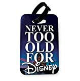 WTF | Never Too Old for Disney - Castle | Printed Art Faux Leather Passport Cover/Luggage Tag (Luggage Tag)