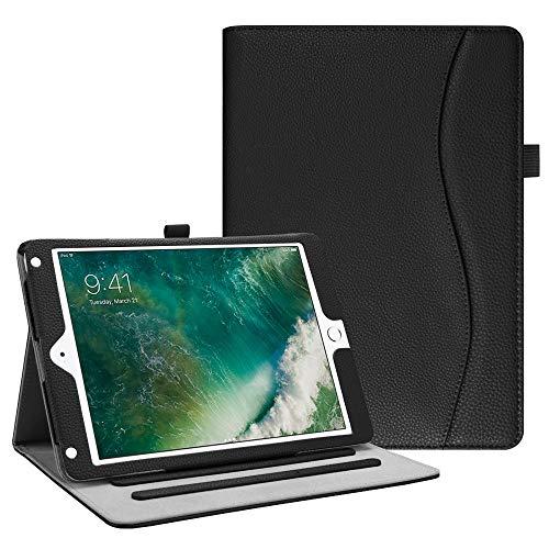 Fintie Hülle für iPad 9.7 Zoll 2018 2017 / iPad Air 2 / iPad Air - [Eckenschutz] Multi-Winkel Betrachtung Folio Stand Schutzhülle Case mit Dokumentschlitze, Auto Wake/Sleep, Schwarz