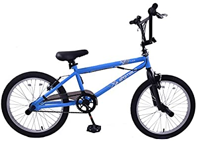 "Ammaco Freestyler 20"" Wheel Kids BMX Bike 360 Gyro & Stunt Pegs Matte Blue from Ammaco"