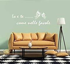 Idea Regalo - Adesivo Murale Io e Te come nelle favole Canzone Vasco Rossi (120x50 cm.) per decorazione casa Adesivo4You