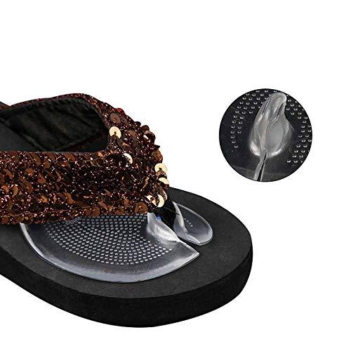 DINBGUCHI 1 Paires Doux Silicone Flip Gel Coussins Pad Protecteurs D'orteils pour String Sandal Flip Flop Gel Inserts Gardes Semelles Chaussures Grip Pads